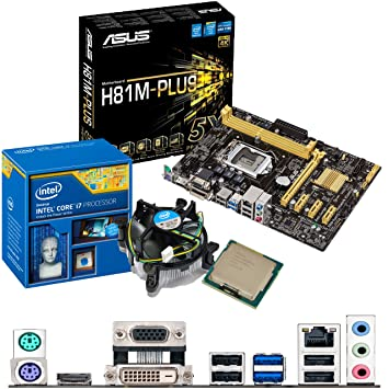 INTEL Core i7 4790K 4 0Ghz, ASUS H81M-PLUS CPU & Motherboard Bundle