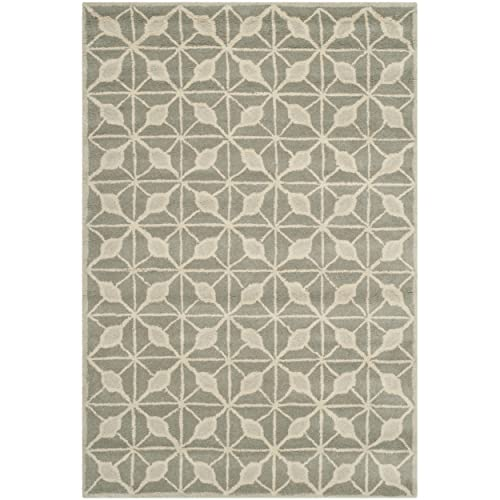 Safavieh Issac Mizrahi Collection IMR506B Handmade Dark Grey and Taupe Premium Wool Area Rug 4 x 6