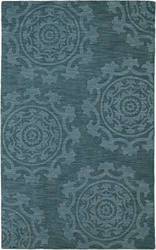 Kaleen Rugs Imprints Classic Hand-Tufted Area Rug, Turquoise, 2 x 3