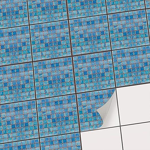 Carrelage adhésif Mural - mosaique Salle de Bain et Cuisine I Sticker  Autocollant pour rénover crédence I Carrelage adhésif - Revêtement Mural I  ...