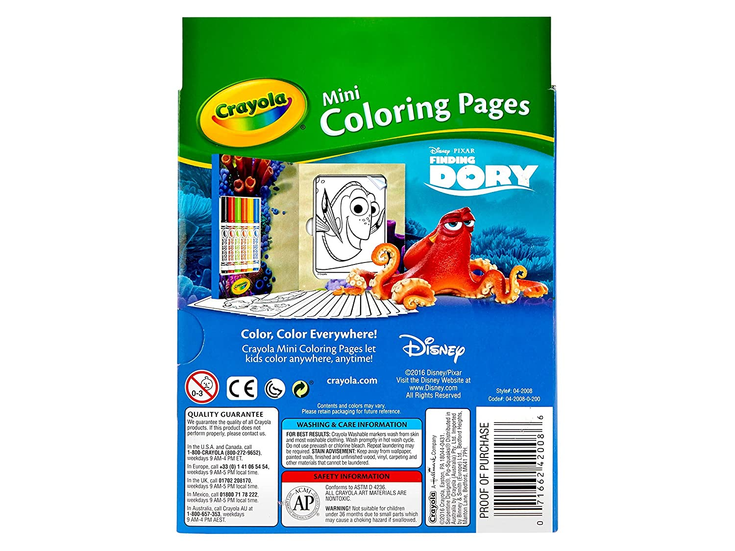 amazon com crayola finding dory mini coloring pages toys u0026 games