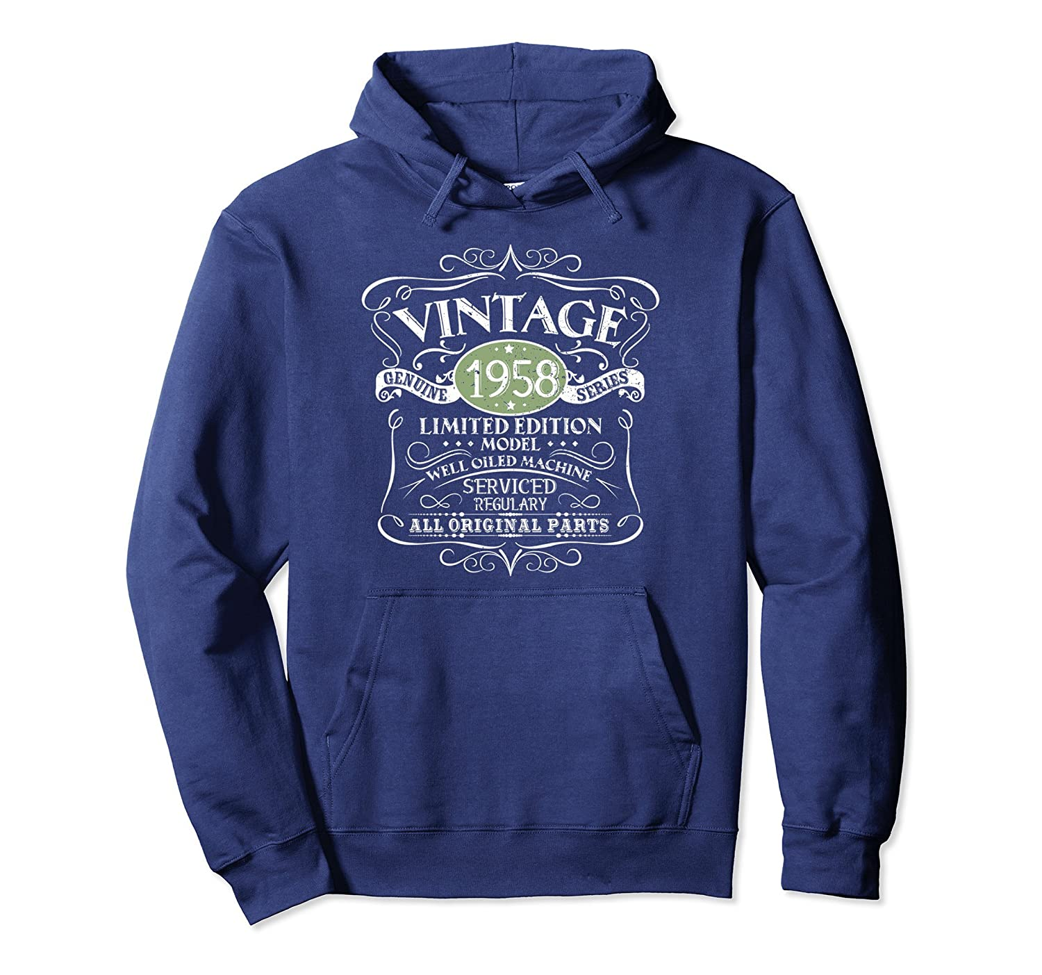 Funny 60th Birthday Gift Idea 1958 Vintage Design Hoodie Ah My Shirt One