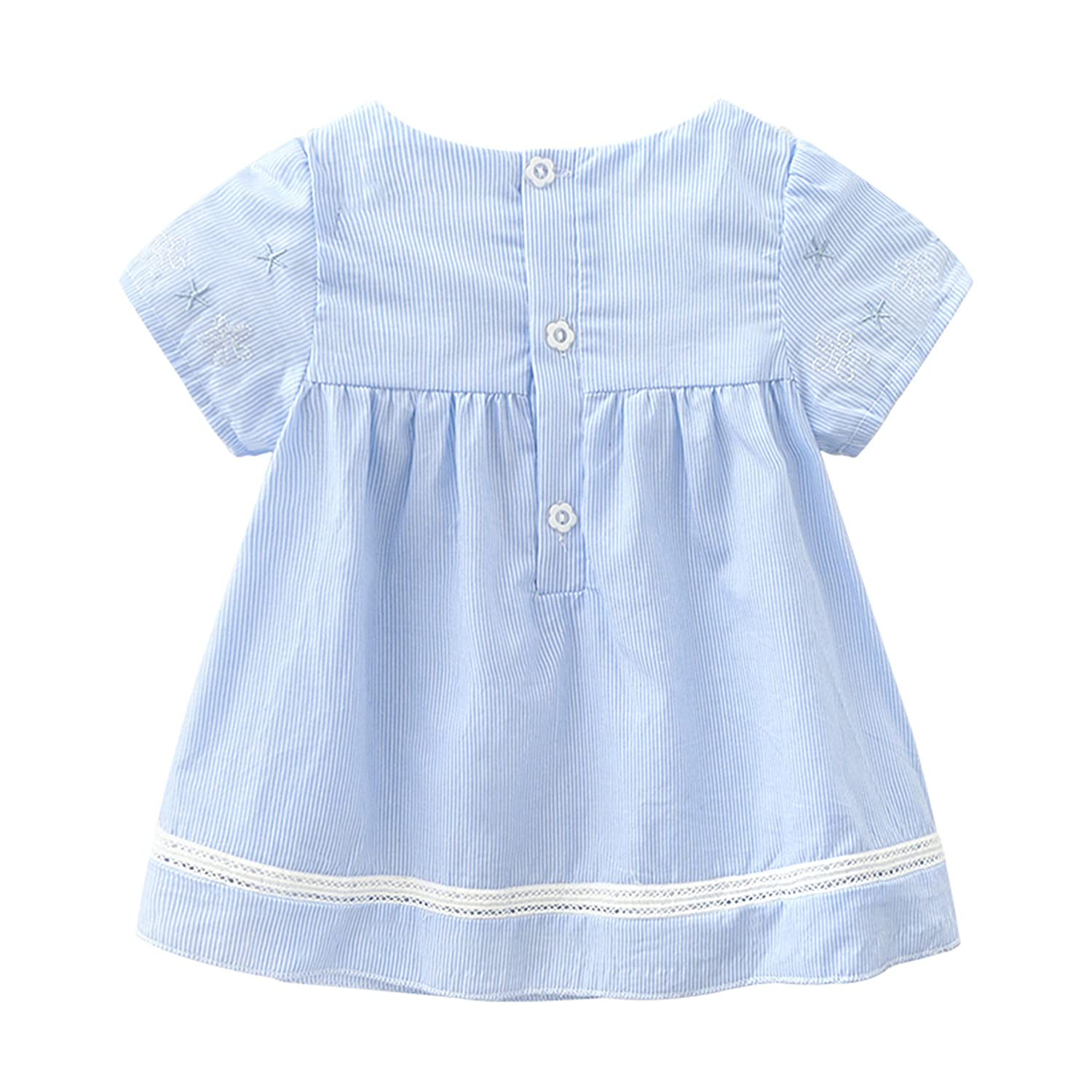 NOMSOCR Toddler Kids Baby Girl 2Pcs Outfit Clothes Set Lace Collar Top Short Pant