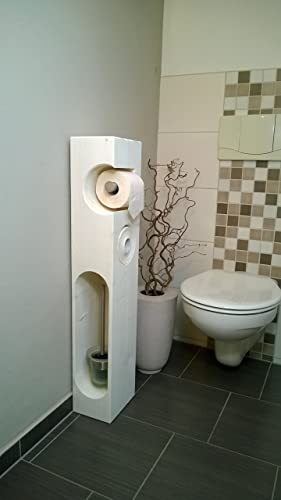 Toilettenpapierhalter Holz Mit Wc Bürste