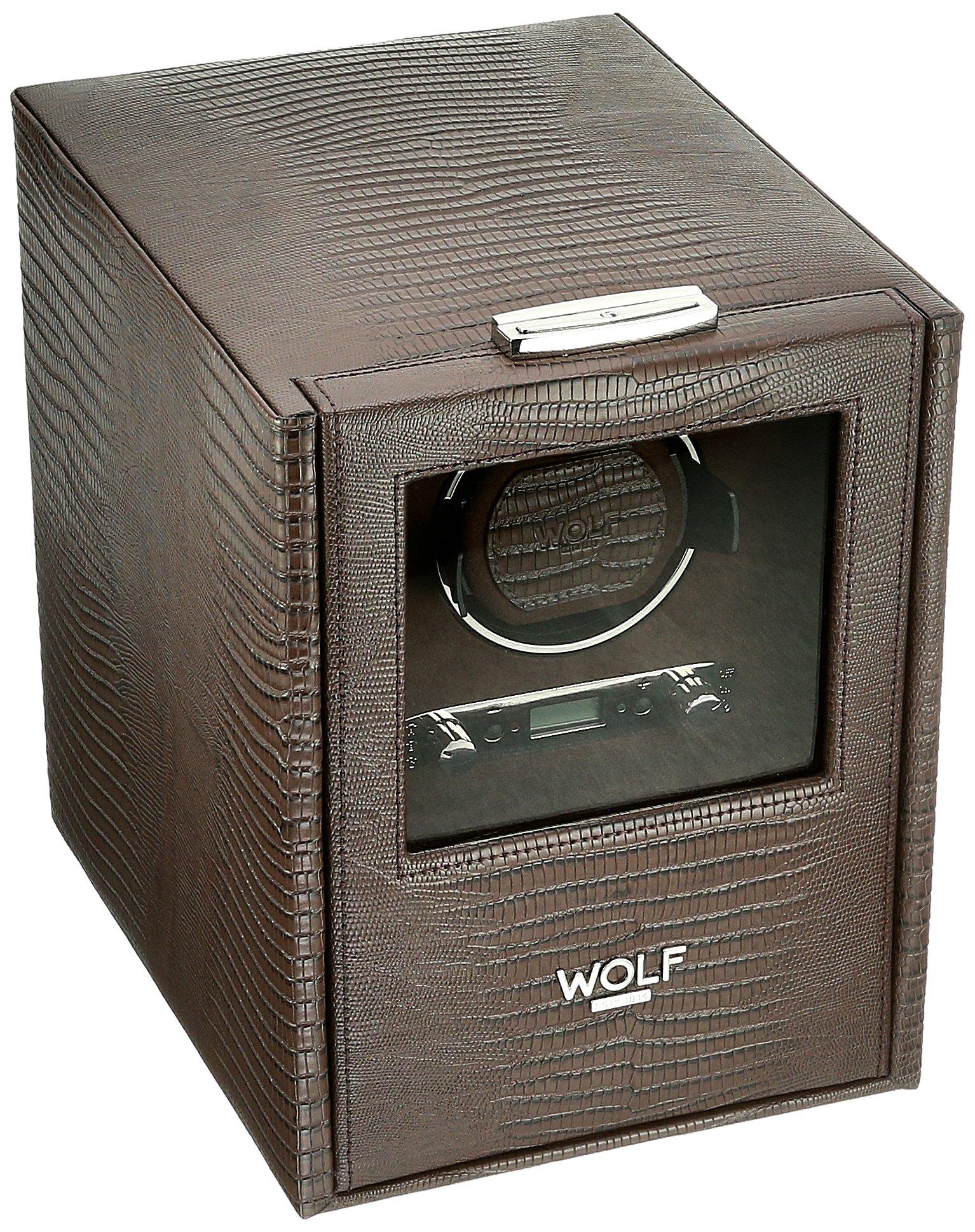 WOLF 460695 Blake Single Watch Winder with Storage, Brown
