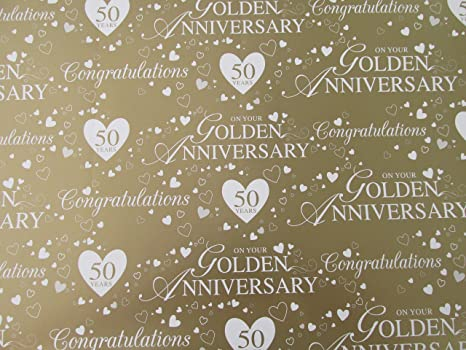 Anniversario Ufficio : Per celebrare il ° anniversario di nozze d oro whte carta regalo