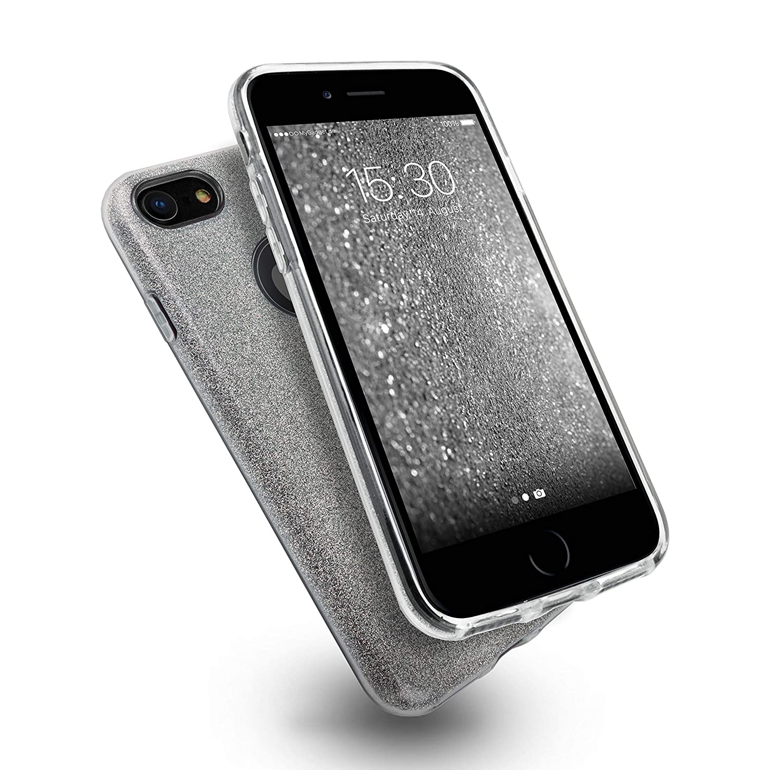 MyGadget Funda Dura de 3 Capas [Glitter Case Brillante] para Apple ...