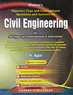 Buy objective type questions answers in civil engineering for objective type and conventional questions and answers on civil engineering fandeluxe Gallery