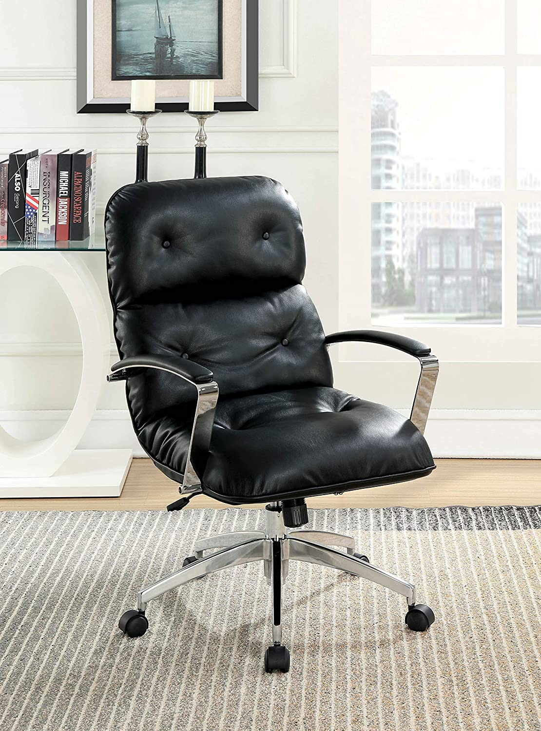 Amazon HOMES Inside Out IDF FC660BK Vernon Office Chair Black Kitchen Dining