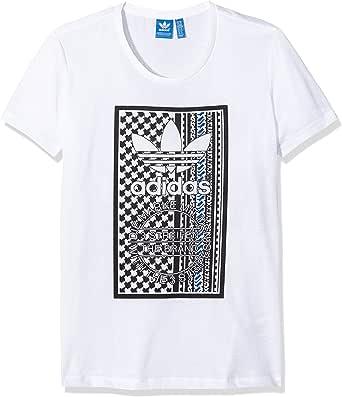 adidas Soccer Tribal – Camiseta de Manga Corta para Mujer, Mujer, T-Shirt Soccer Tribal, Blanco, 42: Amazon.es: Ropa y accesorios