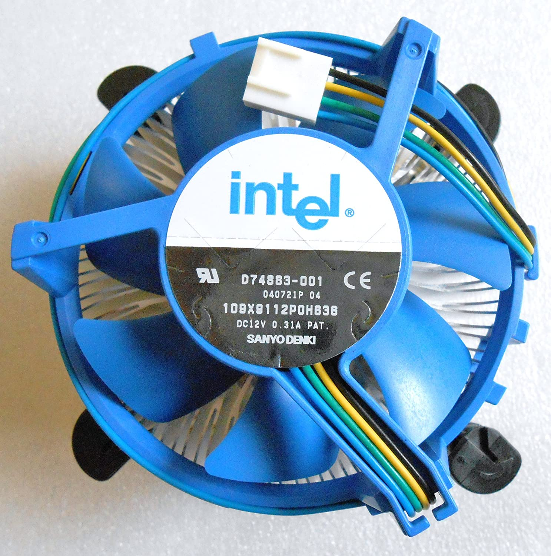 Intel D74883 001 Socket Lga 775 Copper Core Heatsink Fan Processor Original 4 Pin Computers Accessories