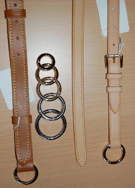 Rentbag & more ny ersättning ställbar axelrem av nötskinn, bärbälte, bandoulier, förlängning BRUN