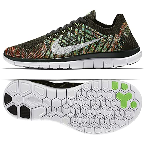 ddfed4870dcda Nike Free 4.0 Flyknit 717076-301 Sequoia White Blue Orange Women s Running