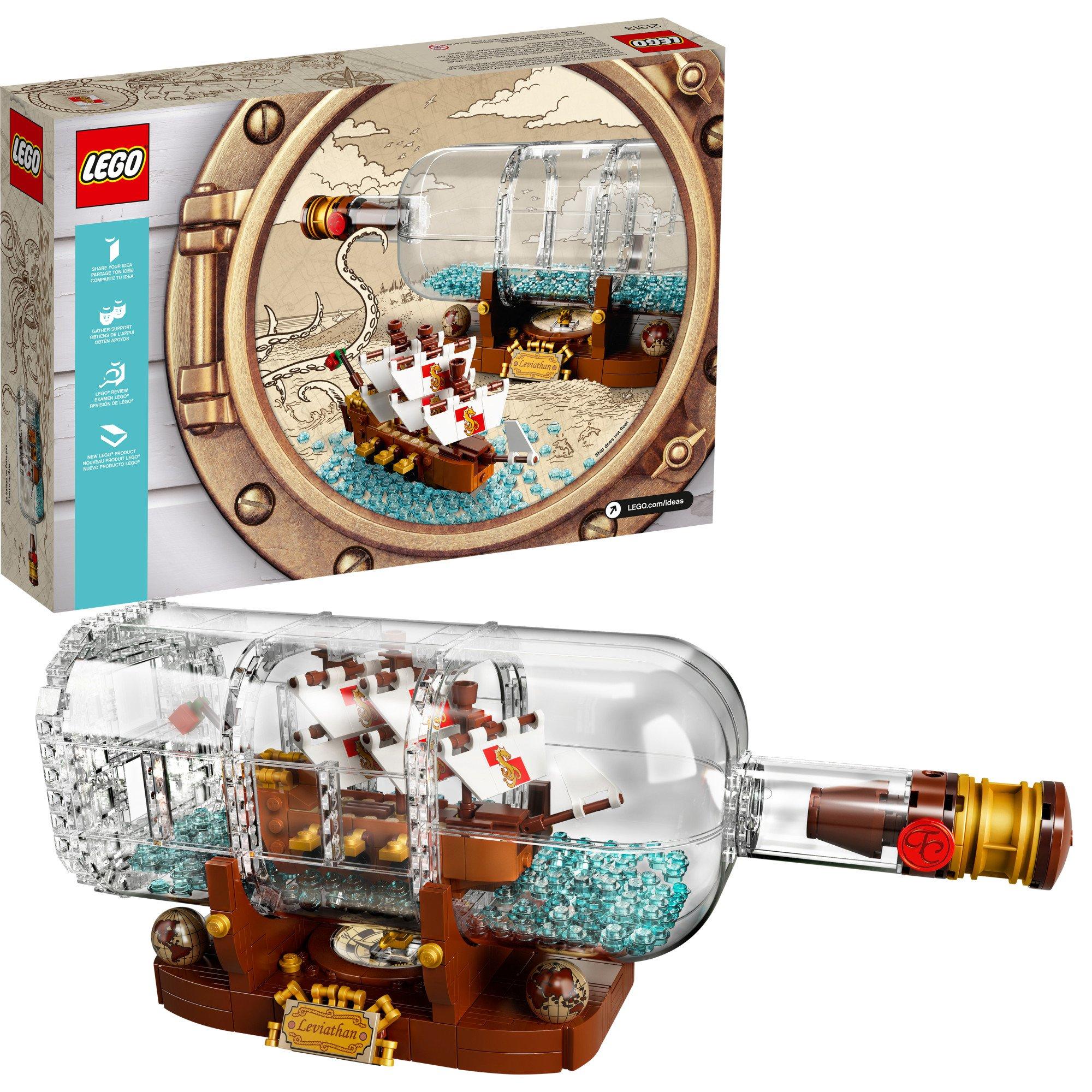 LEGO Ideas Ship in a Bottle 21313 Building Kit (962 Piece)