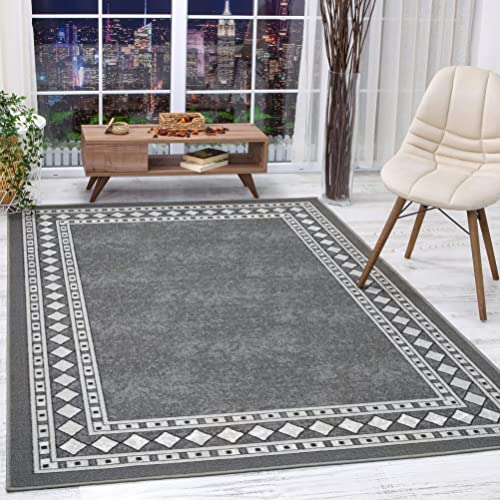 Antep-Rugs-Alfombras-Modern-Bordered-8x10-Non-Skid-(Non-Slip)-Low-Profile-Pile-Rubber-Backing-Indoor-Area-Rugs