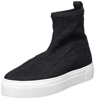 Kennel und Schmenger Damen Big Hohe Sneaker Schwarz (Black