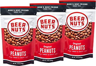 product image for BEER NUTS Original Peanuts - 16oz Resealable Bag, Sweet and Salty, Gluten-Free, Kosher, Low Sodium Peanut Snacks (3-Pack)