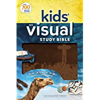 NIV, Kids' Visual Study Bible, Leathersoft,  Bronze, Full Color Interior: Explore the Story of the Bible---People, Places, and History