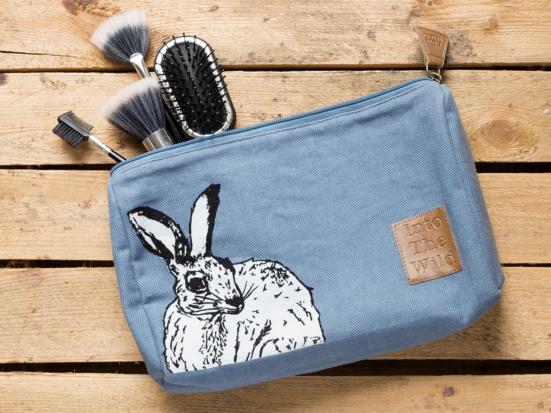 CREATIVE TOPS in die Wild Hase Medium Kosmetiktasche 2/X 26/X 17/cm Blau Stoff