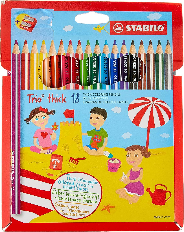 Stabilo 040024.93 Pastel trio Maxi, pack de 18 unidades): Amazon.es: Oficina y papelería