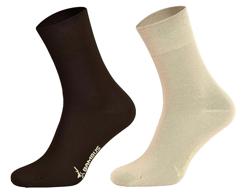 Tobeni 6 pares de calcetines de bambú sin caucho como mujer y hombre: Amazon.es: Ropa y accesorios