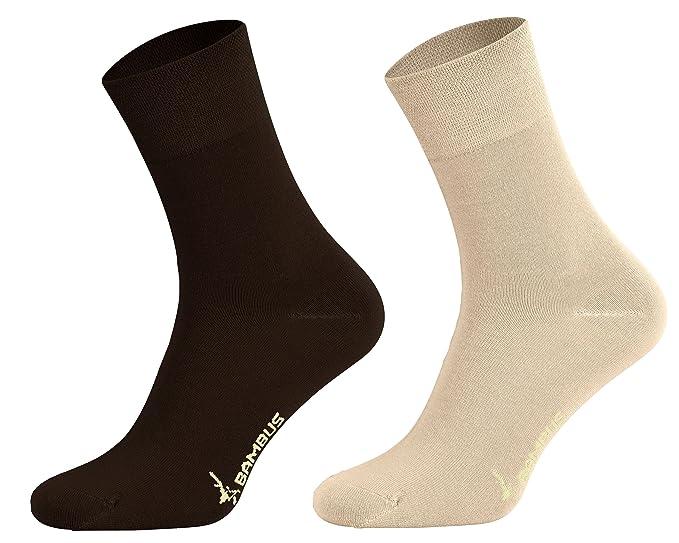Tobeni 6 pares de calcetines de bambú sin caucho como mujer y hombre ...