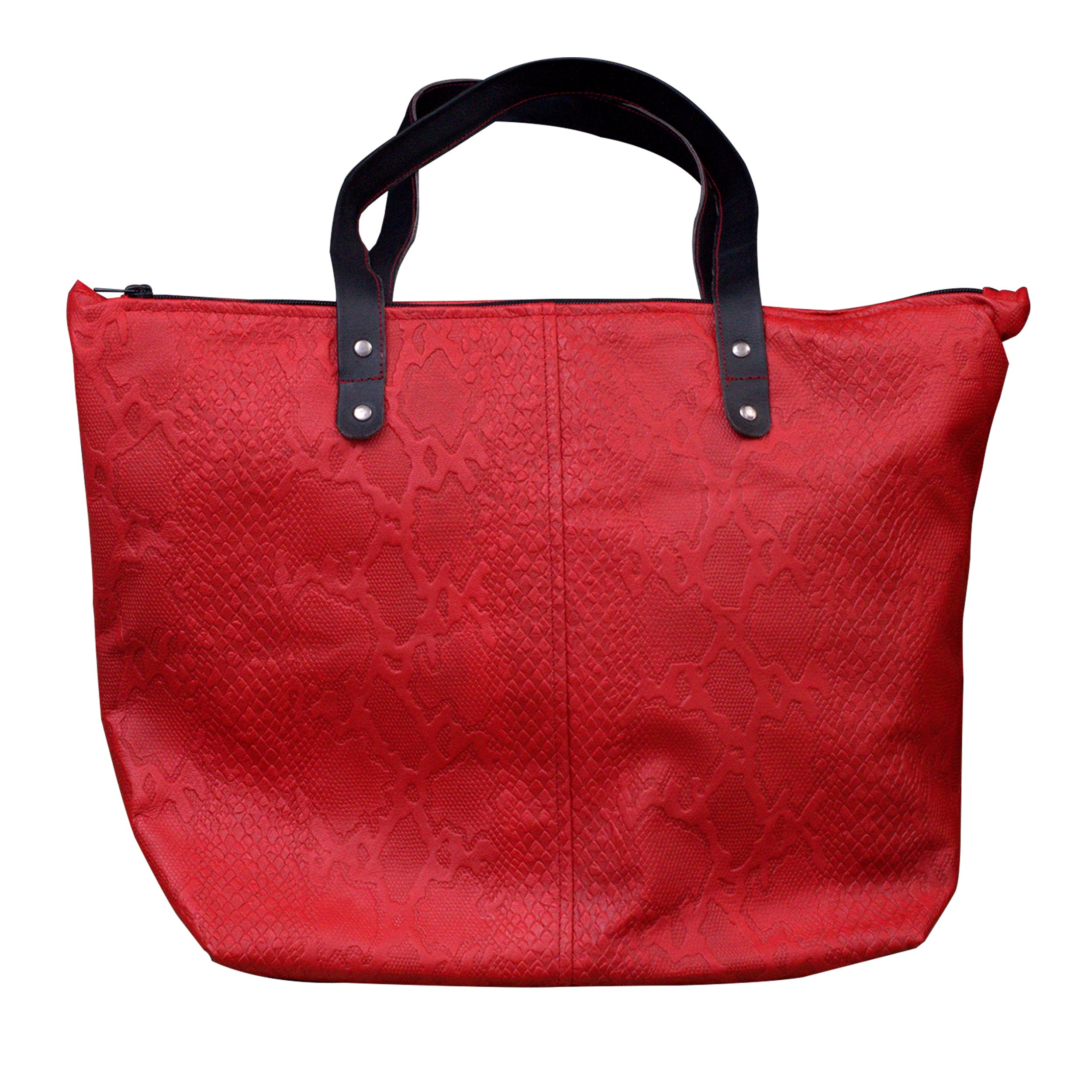 MONT5 Everyday Maroon Zipper Women Sheep Leather Tote   Shoulder Bag   Leather Purse