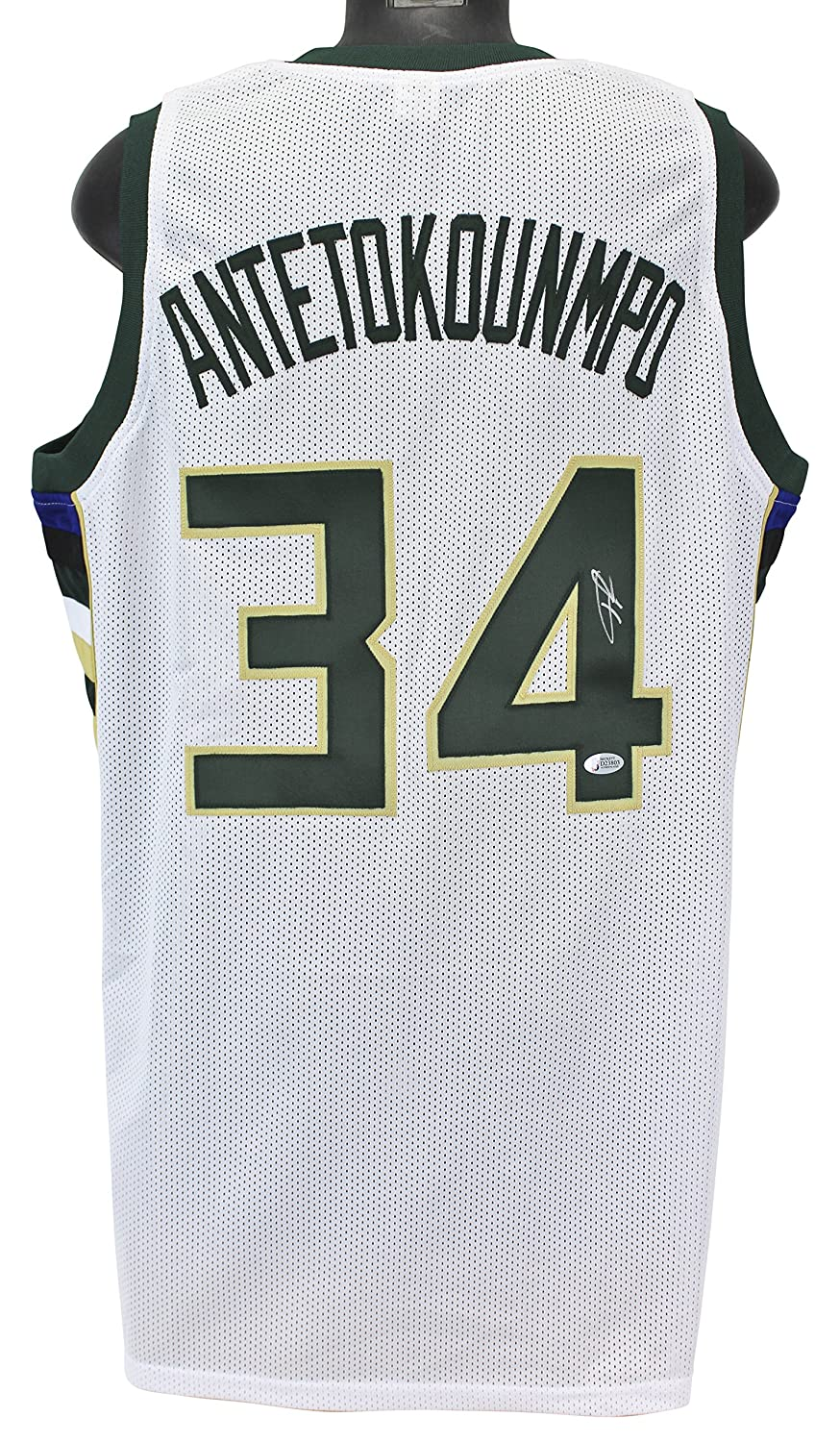 37c42a3dae3 ... wholesale amazon bucks giannis antetokounmpo authentic signed white  jersey autographed bas sports collectibles 51c84 ac546
