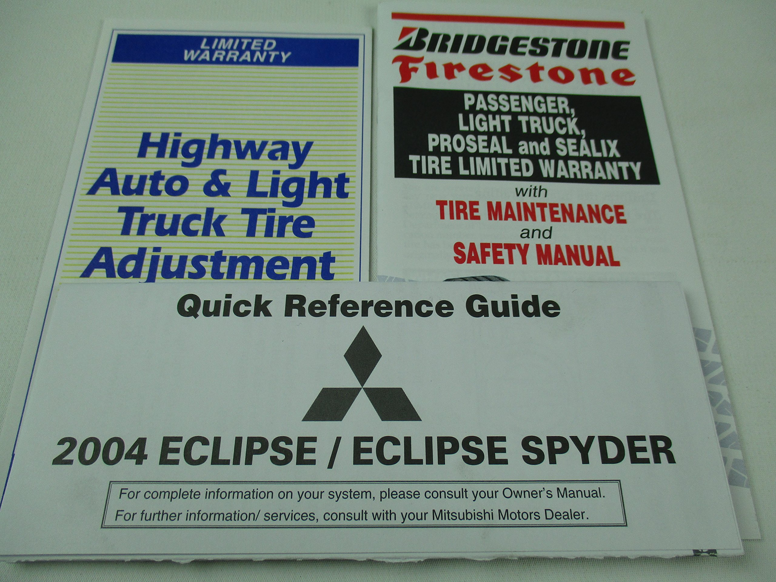 2004 mitsubishi eclipse spyder owners manual mitsubishi amazon com rh amazon com Mitsubishi Mini Split Warranty Mitsubishi Split System Warranty