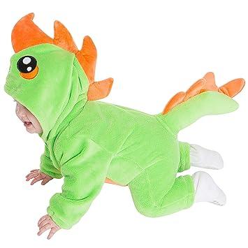 corimori Byte el Dinosaurio Ropa de Dormir Disfraz de Animal Bebé Recién Nacido Color verde Talla 60-70 cm (1850-001: Amazon.es: Juguetes y juegos