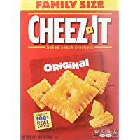 Cheez-It Original Baked Snack Cheese Crackers, Family Size, 21 Ounce Box