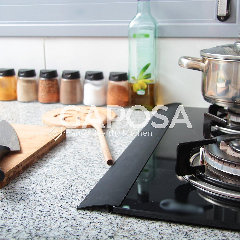 gaposa horno contador Laguna Cover (2pcs) mantiene limpia la cocina resistente al calor cocina brecha Cubierta: Amazon.es: Hogar