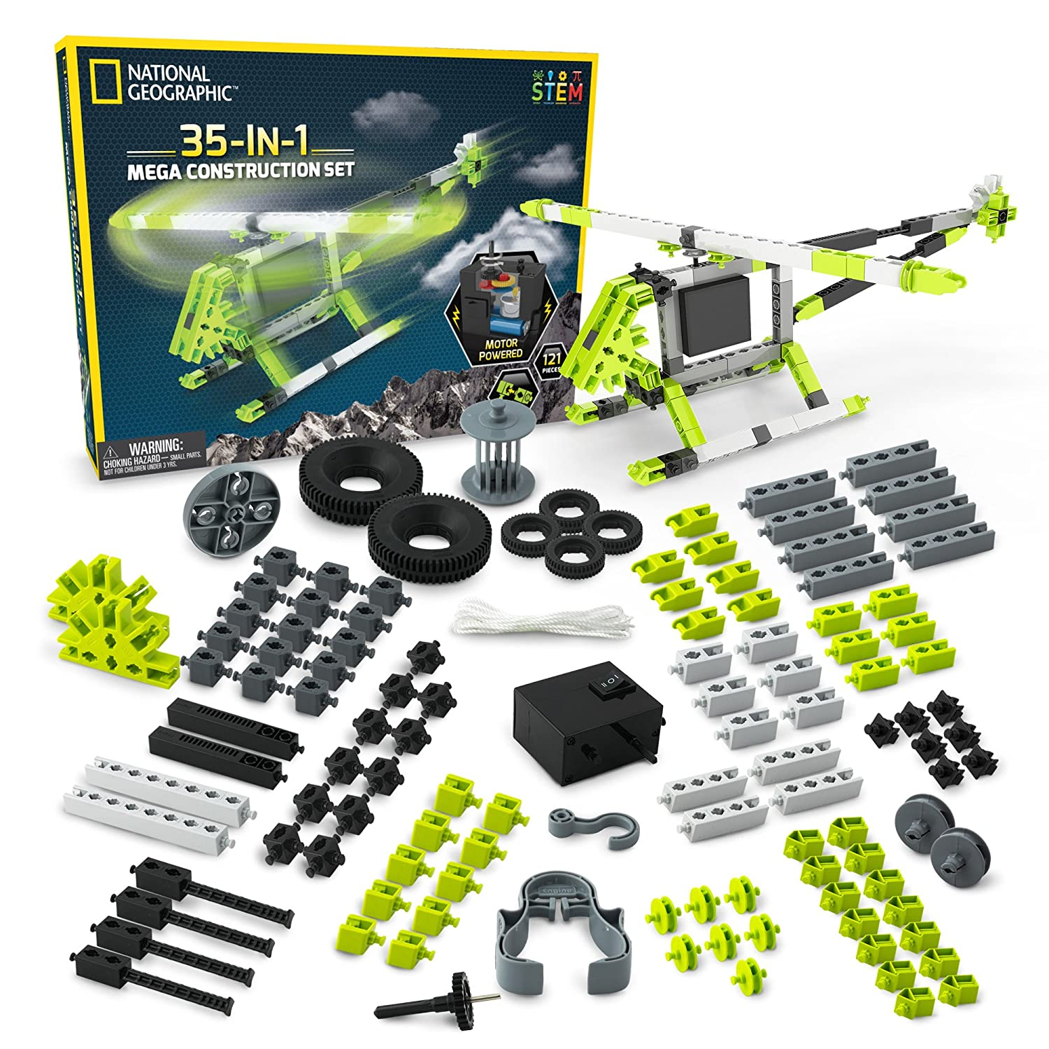National Geographic Mega Construction Engineering Set Circuit Kit Free Download Build 35 Unique Motorized Models Helicopters Cars Animals And More Stem Learning