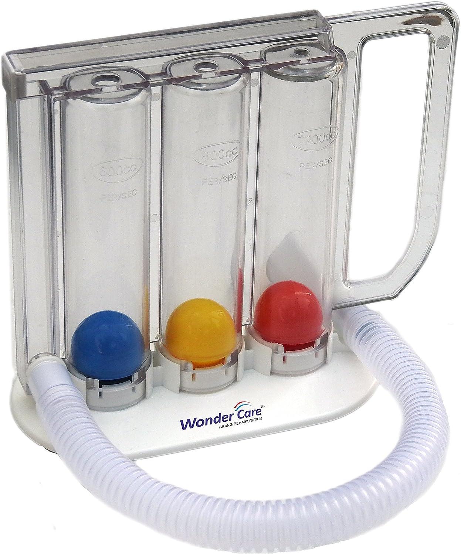 Wonder Care - ejercitador respiratorio - lavable - espirómetro incentivo - capacidad pulmonar