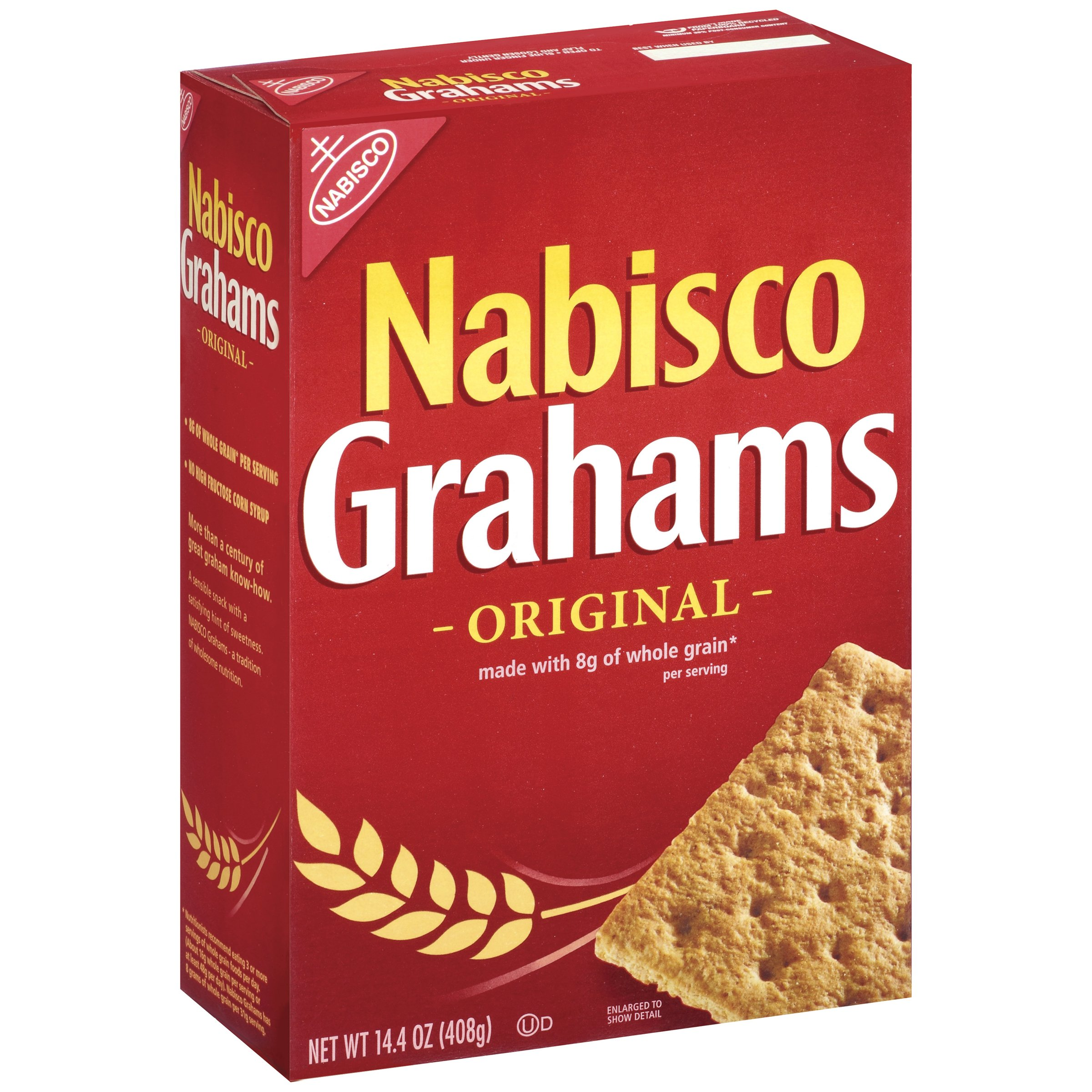 Nabisco Grahams Crackers, Original, 14.4 Ounce Box (Pack of 12)