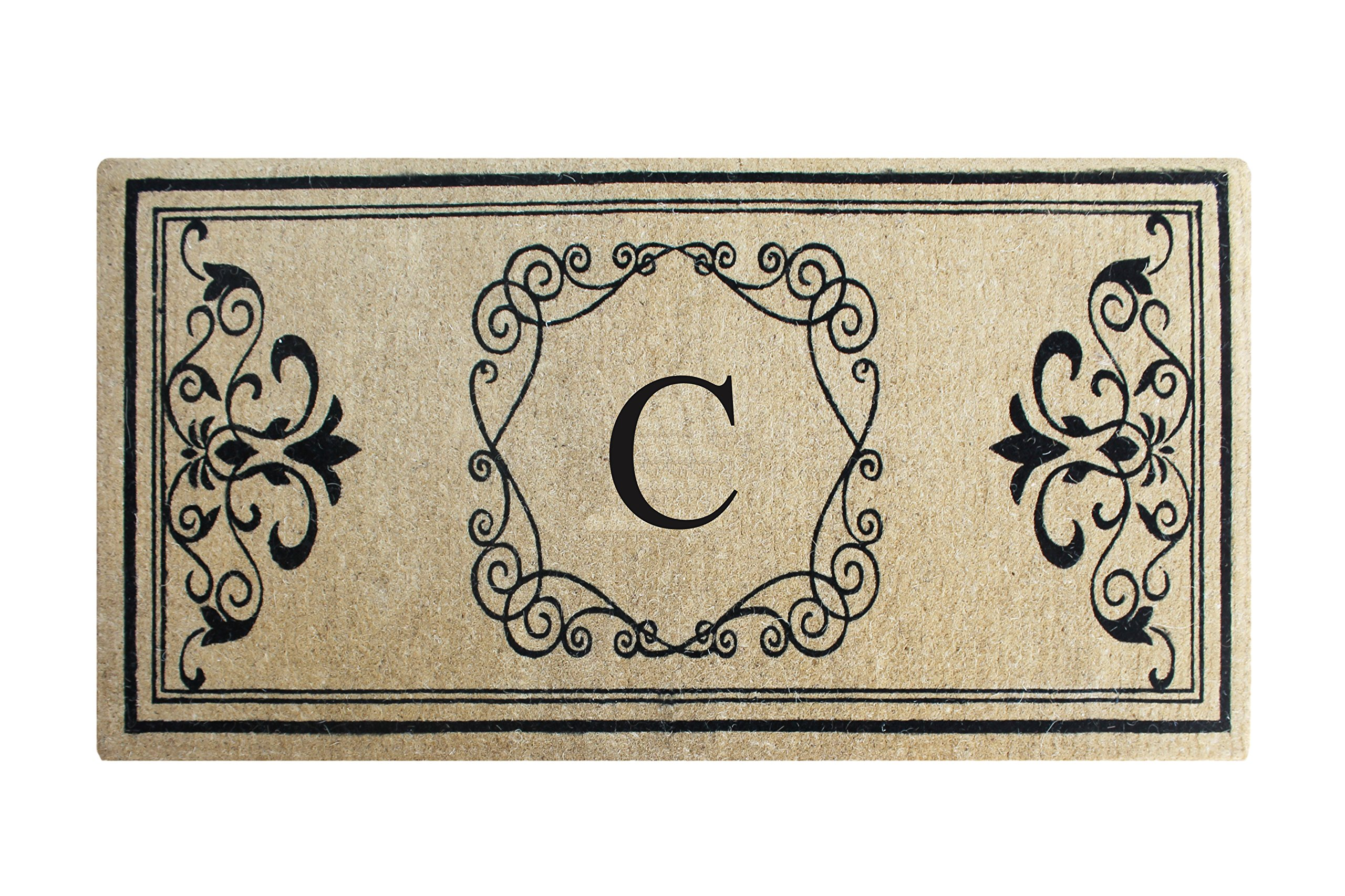 A1 Home Collections First Impression Hayley Monogrammed Entry Double Doormat