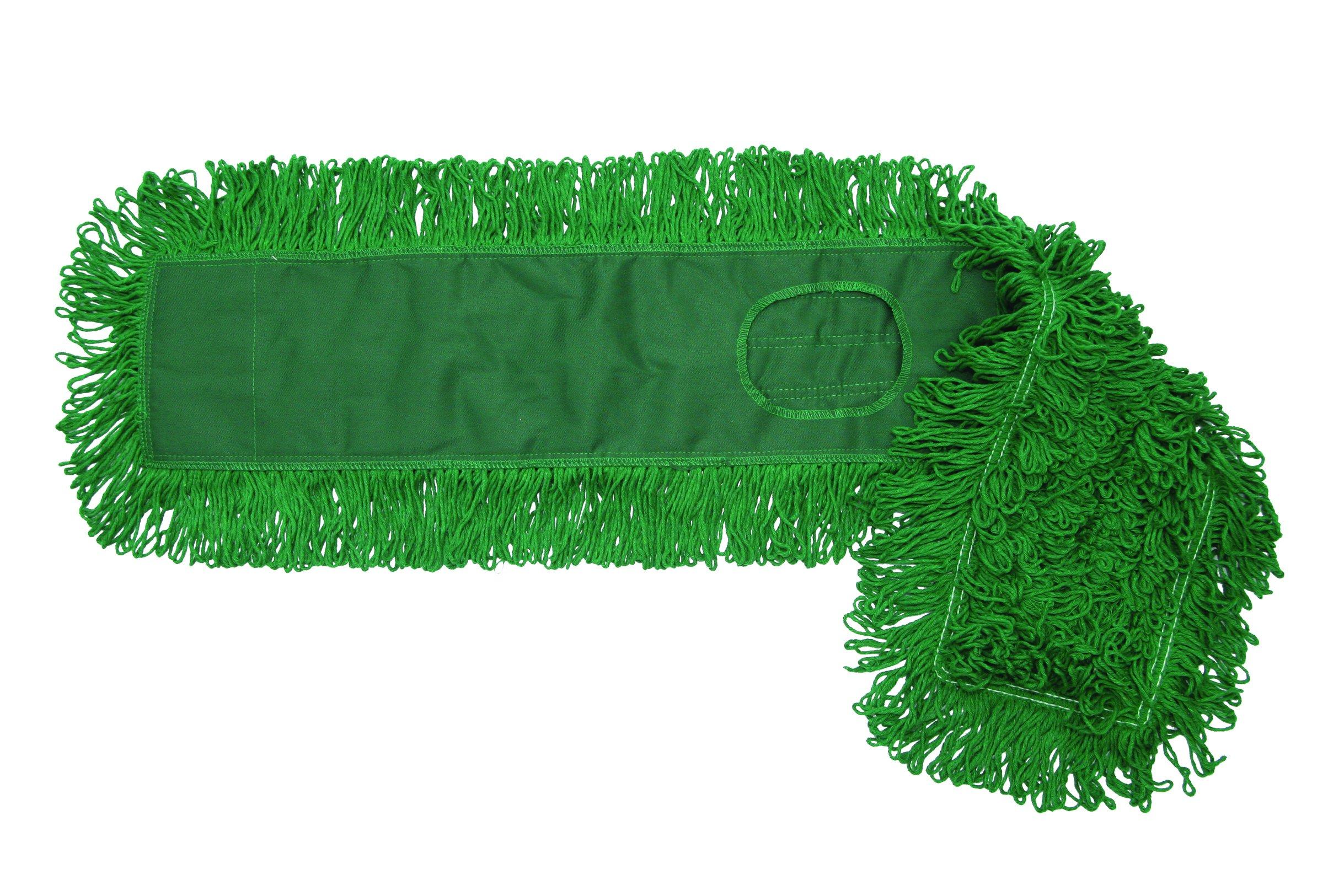 O'Cedar Commercial 96918 MaxiDust Loop-End Mop, 18'', Green (Pack of 12) by O-Cedar Commercial