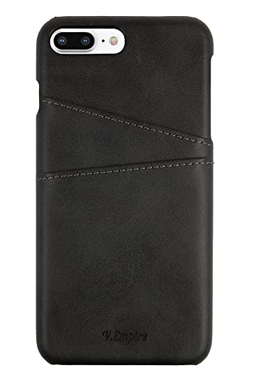 watch d1ab2 dbda9 iPhone 7 Plus Case | Slim | Thin | Leather Wallet Card Holder | for Men,  Women, Girls | Protective Edge (Black - 7+)