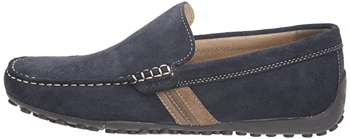 Amazon.com | Geox U Snake Moc U Mens Suede Moccasins Shoes - Navy Blue - SIZE US 12 | Shoes