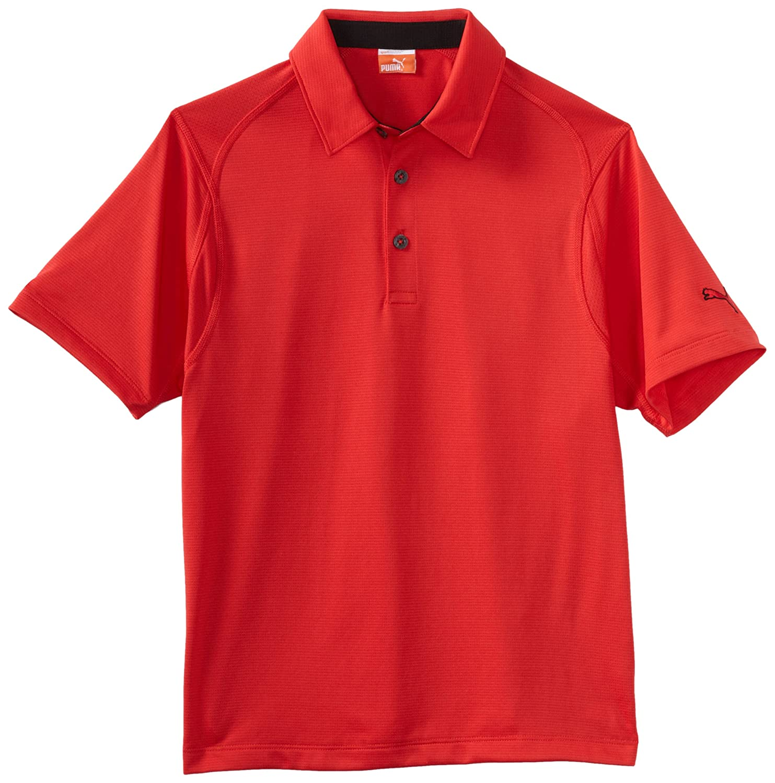 Puma ゴルフ ボーイズ テックポロシャツ S トマト B007ZQ69B6