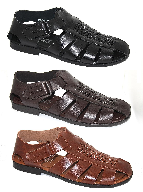 By Neki - Sandalias de vestir de Piel para hombre negro negro 41 EU|negro