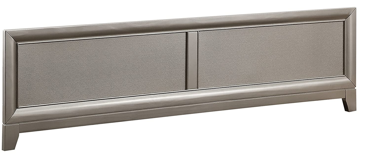 Holland House Pearington Glam Panel Footboard w/slats, Queen Bed Mattress Furniture Supply 25019-211