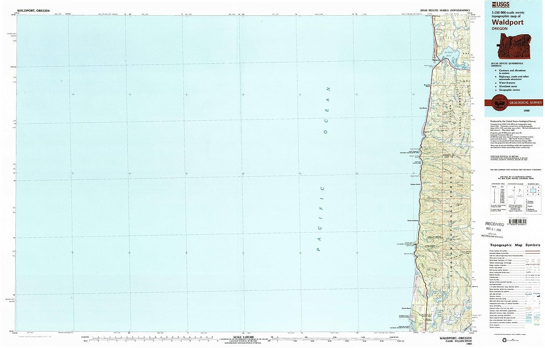 Amazon Com Yellowmaps Waldport Or Topo Map 1 100000 Scale 30 X