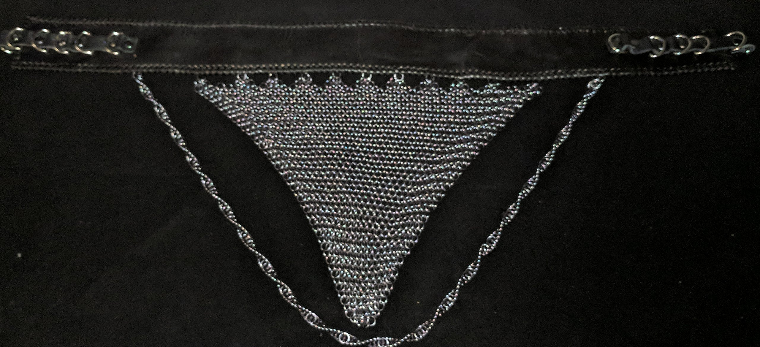 Leather and Chain mail Belly Dancing belt