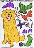 Graphics and More 'Golden Retriever Dress-Up' Dog Pet Funny MAG-NEATO'S Novelty Gift Locker Refrigerator Vinyl Magnet Set