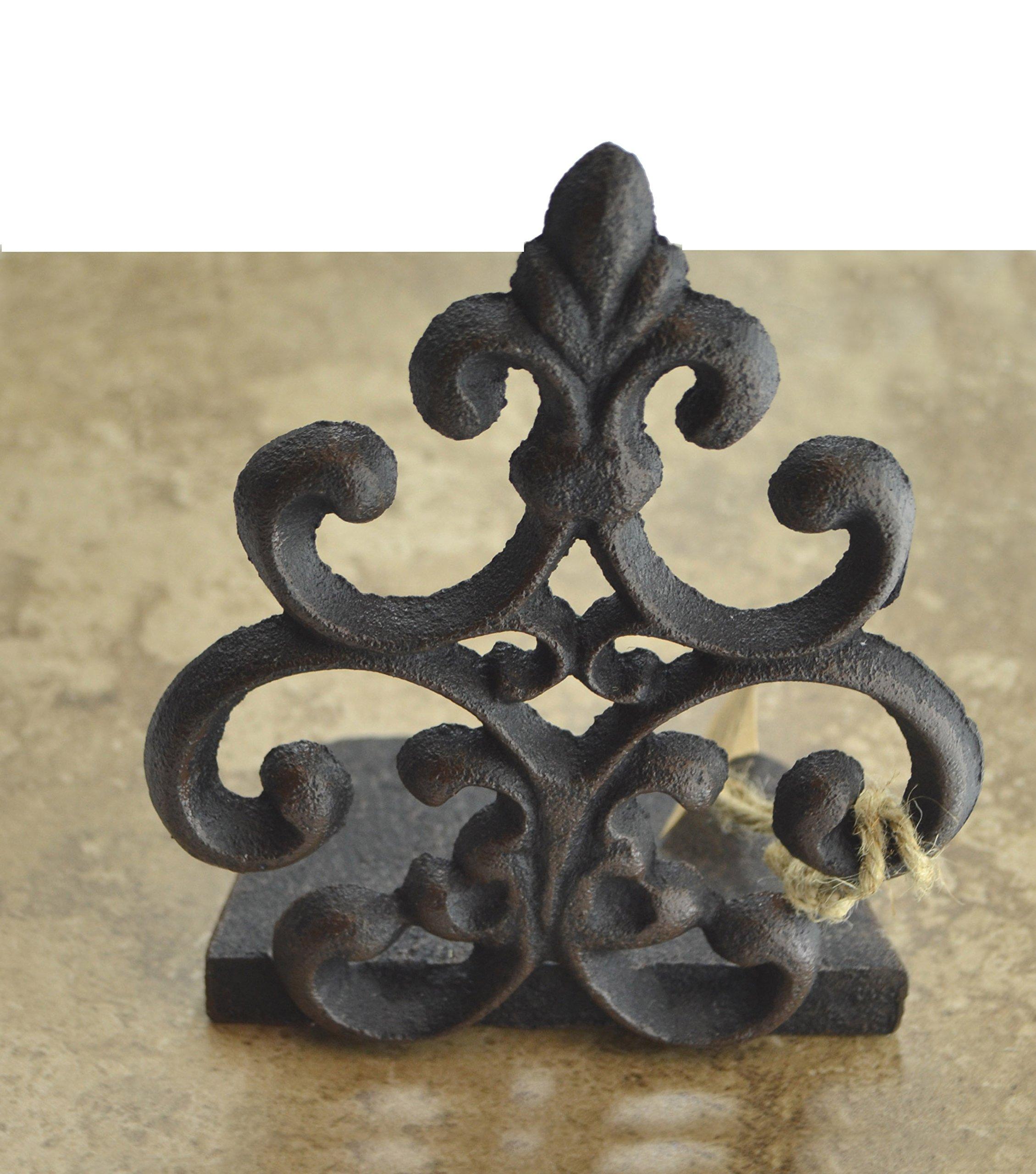 Lulu Decor, Cast Iron Fleur De Lis Door Stop, Door Stopper in Antique Black Finish, Beautiful and Useful Product (1) by Lulu Decor (Image #4)
