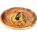 scodella ovale LIDO - in legno d'ulivo, ca. 16x10 cm. Con una venatura molto bella, impregnata con olio di lino pressato a freddo. Ogni scodella è un pezzo unico
