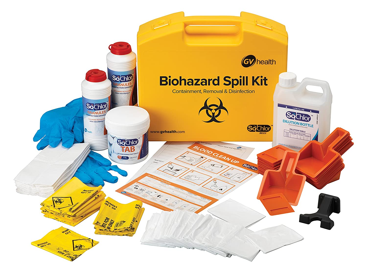 GV Health Biohazard and Bodily Fluid Multi Spill Kit - Pack of 25 MJZ017