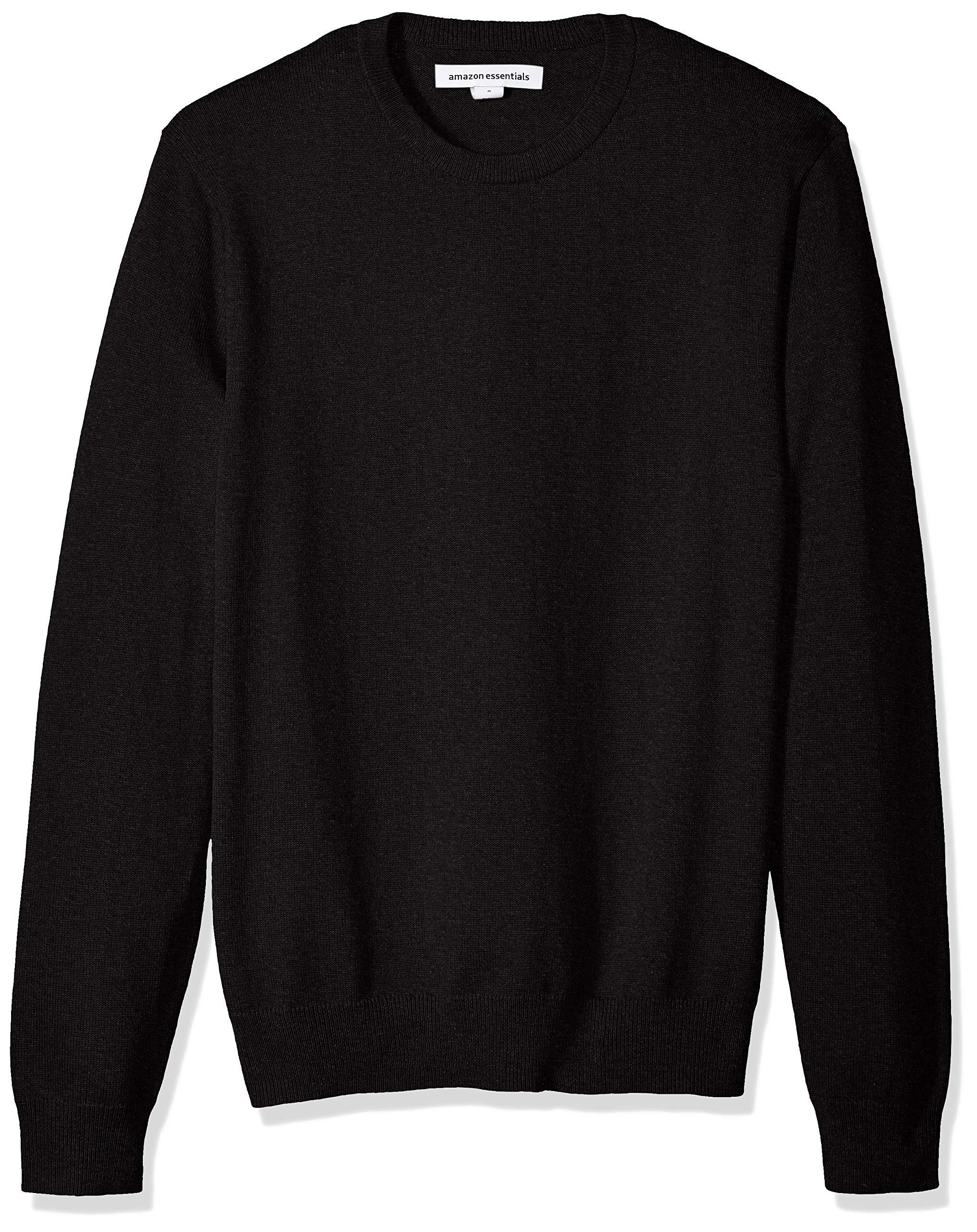Amazon Essentials Men's Standard Crewneck Sweater, Black, X-Large