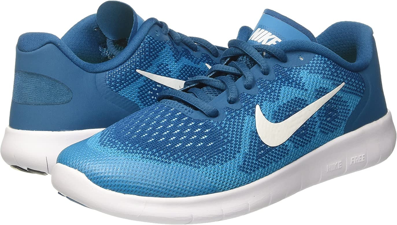 Nike Free RN 2017 (GS), Zapatillas de Entrenamiento Unisex Niños, Verde (Green Abyss/Metallic Summit White-Neo Turquoise 301), 36 EU: Amazon.es: Zapatos y complementos